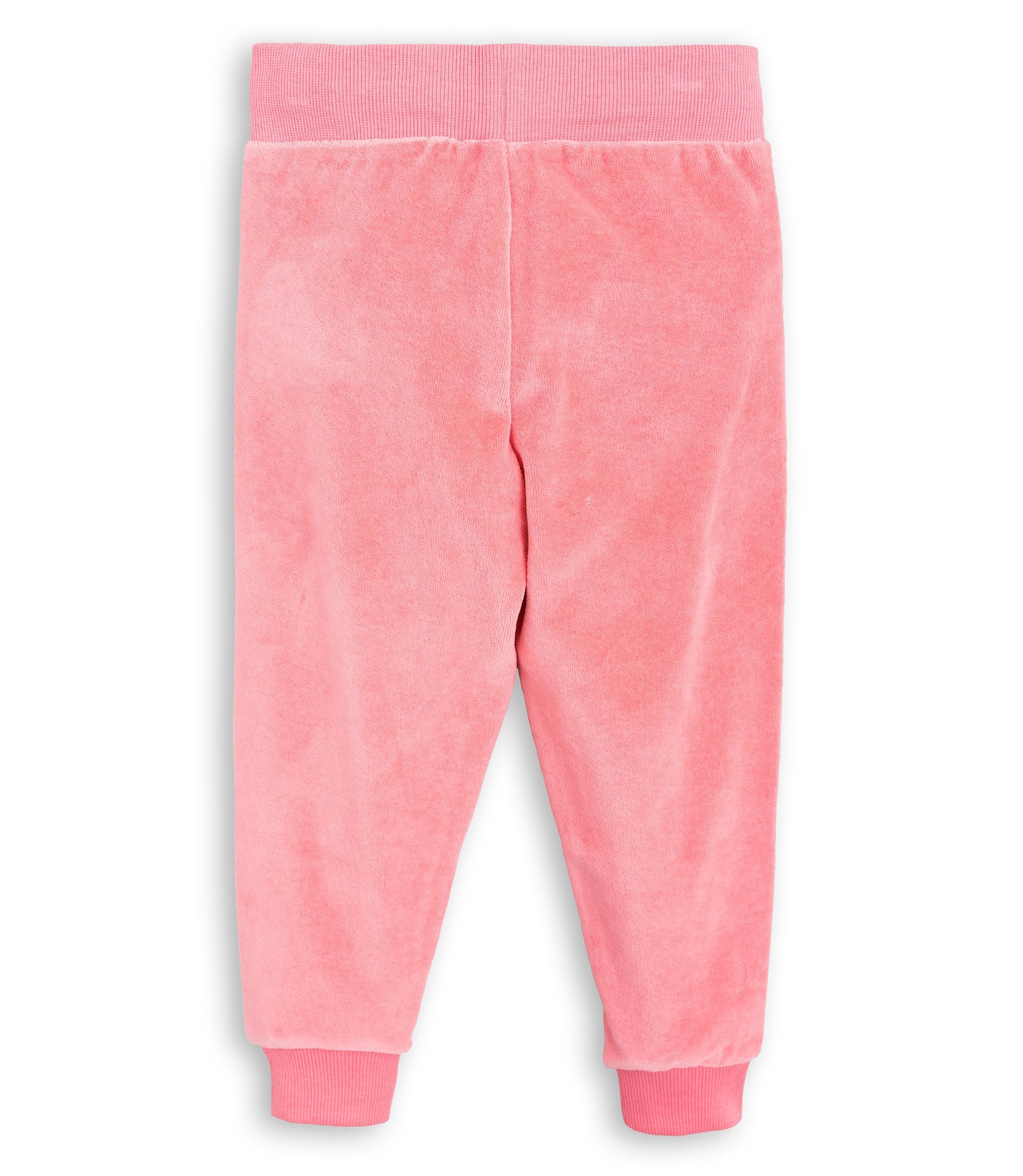 Mini Rodini - Pink Fox Velour Sweatpants