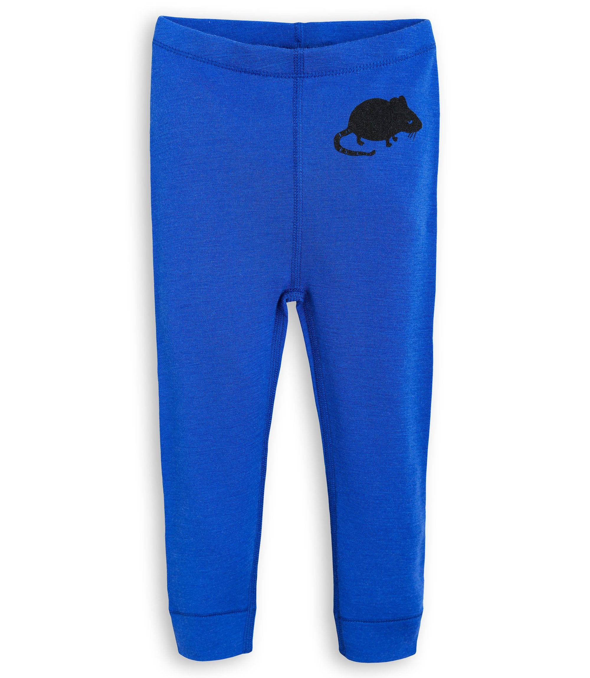 Mini Rodini - Blue Mouse Wool Leggings