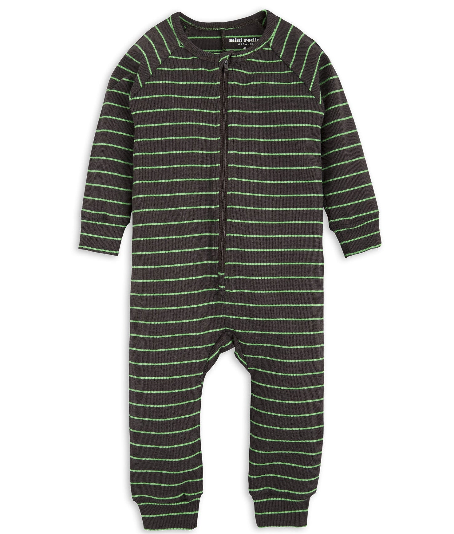 Black Stripe Rib Jumpsuit Mini Rodini - The Mini Life