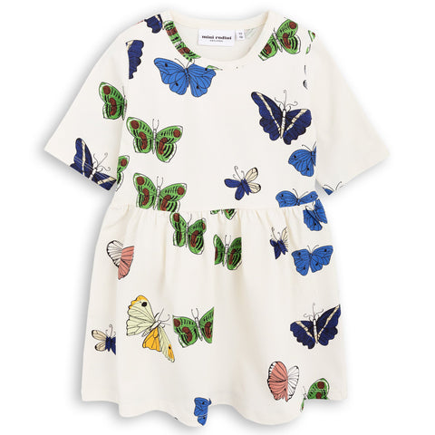Mini Rodini - Butterflies Off-White Dress