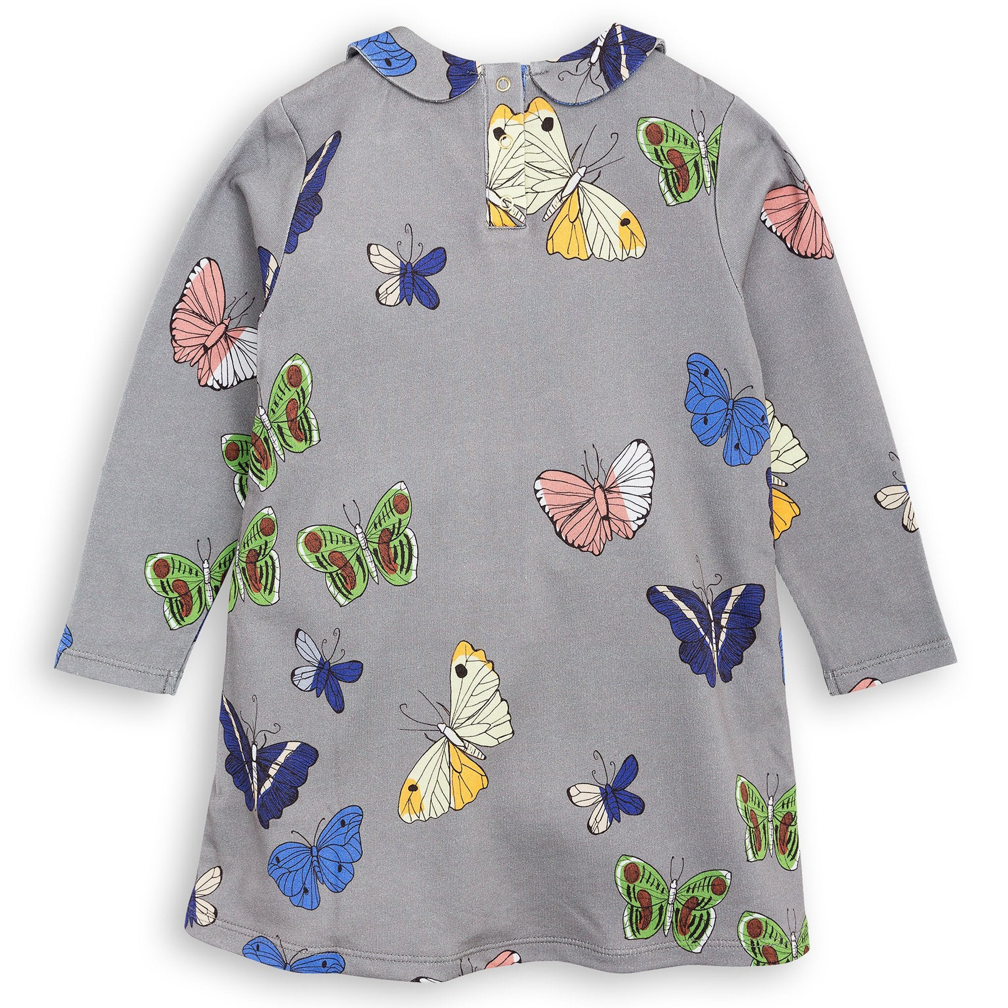 Mini Rodini - Butterflies Collar Dress Grey