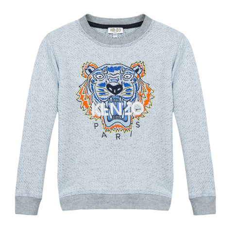 Kenzo Kids | Blue Marled Tiger 17 Sweatshirt | The Mini Life