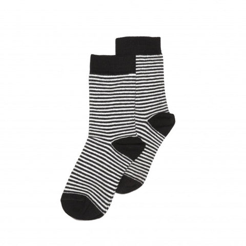 Mingo Kids Striped Socks Black