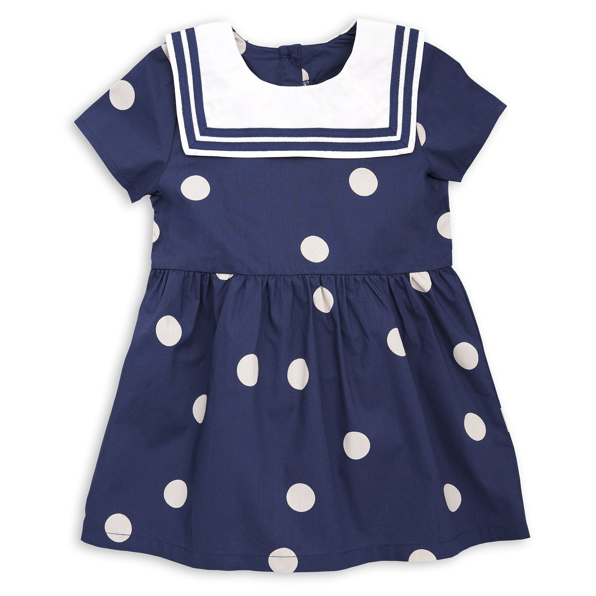 Mini Rodini - Navy Dot Woven Sailor Dress