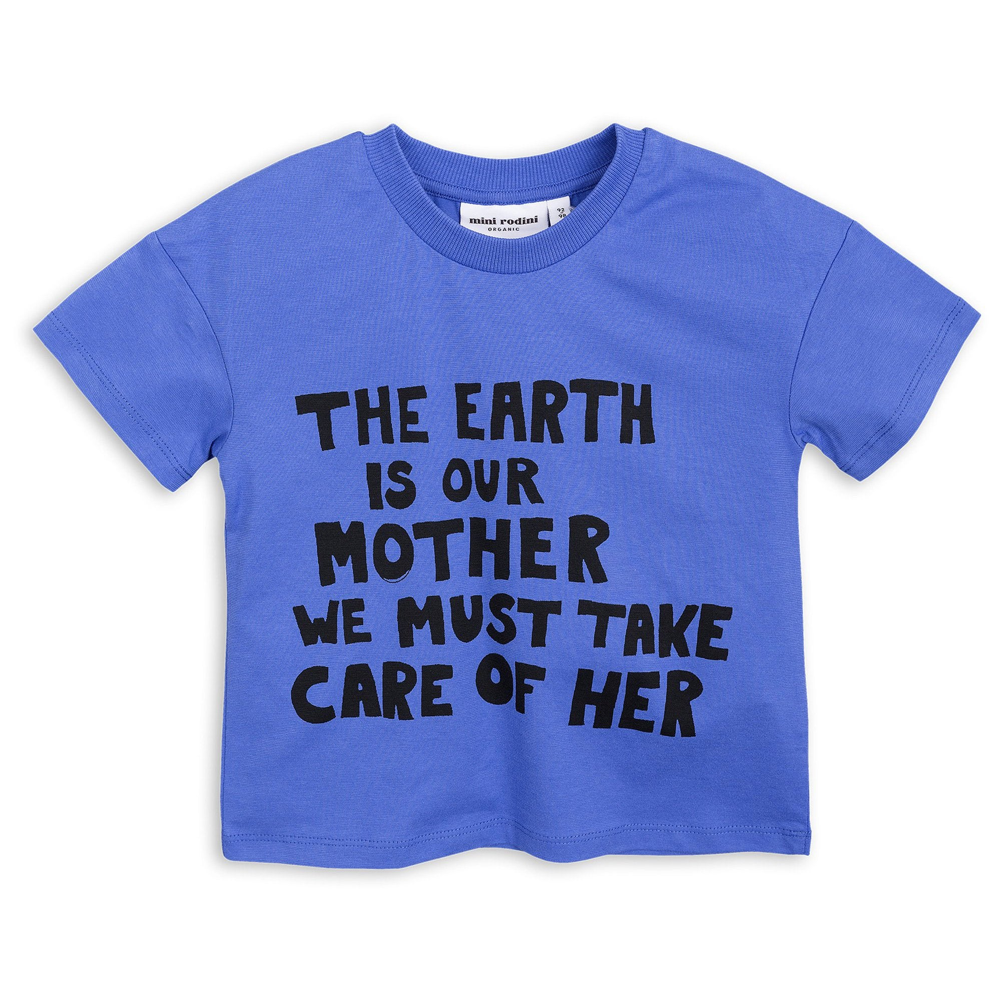Mini Rodini - Mother Earth Tee Blue