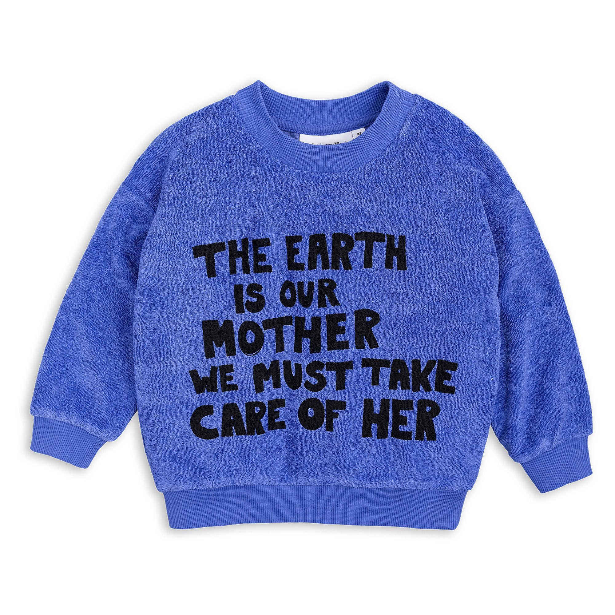 Mini Rodini - Mother Earth Terry Sweatshirt Blue