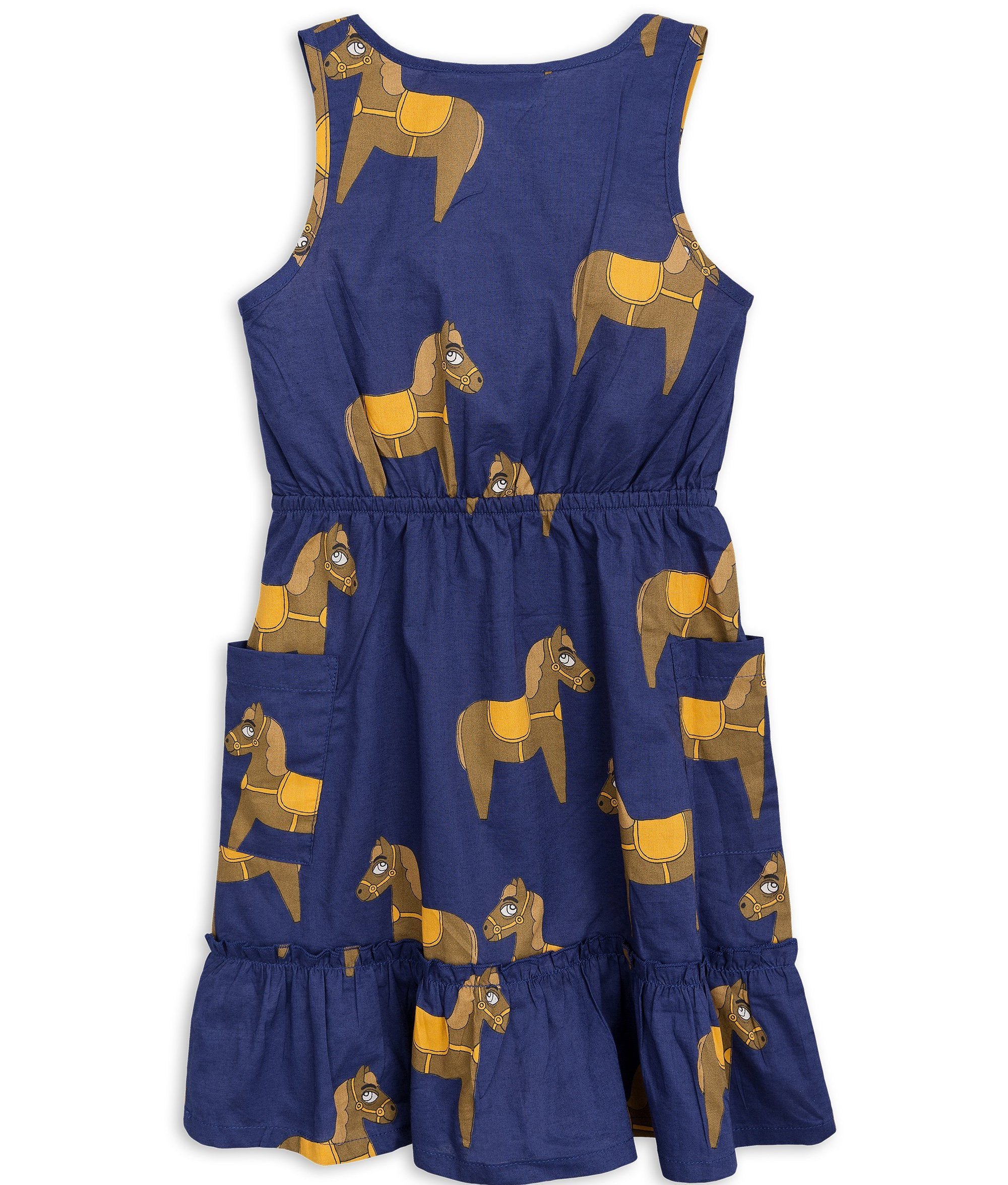 Mini Rodini - Horse Woven Flounce Dress