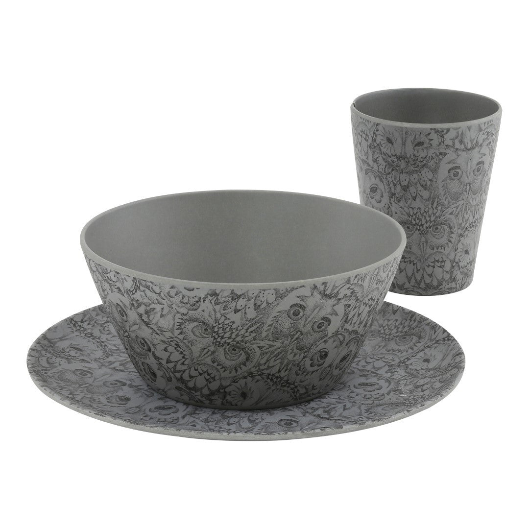 Soft Gallery | Owl 3pc Tableware - Drizzle | The Mini Life