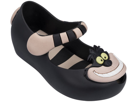 Mini Melissa | Black/Pink Alice in Wonderland Ultragirl Slip On