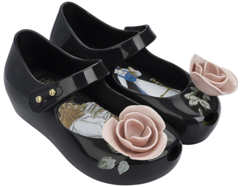 Mini Melissa | Beauty and the Beast Ultragirl Rose - Black | The Mini Life