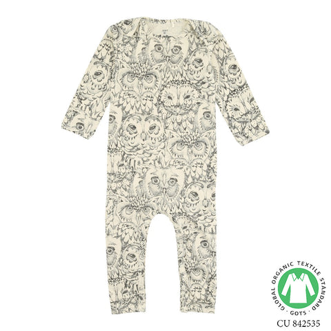 Soft Gallery Owl Bodysuit Cream - The Mini Life