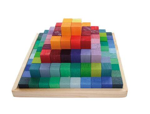Grimm's Wooden Toys | Stepped Pyramid 2cm Thick - The Mini Life, Toronto