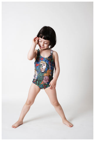 WOLF AND RITA x JC CASTELBAJAC | Filomena Swimsuit - Dans La Foret | The Mini Life
