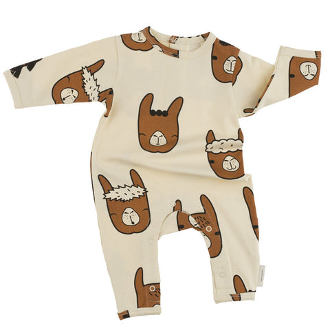Tiny Cottons Llamas Heads Onepiece - The Mini Life