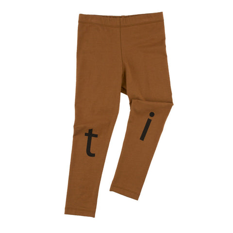 Tiny Cottons T-I-N-Y Logo Pant Brown - The Mini Life