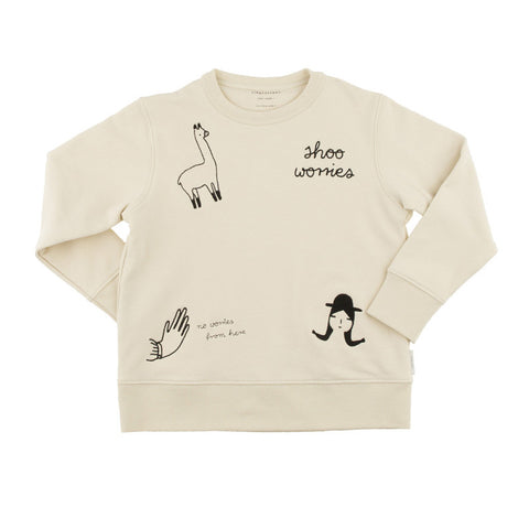 Tiny Cottons No Worries Embroidery Sweatshirt - The Mini Life
