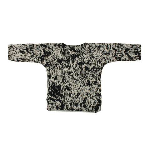 Noe and Zoe | Baby Black Scribble Log Sleeve Tee