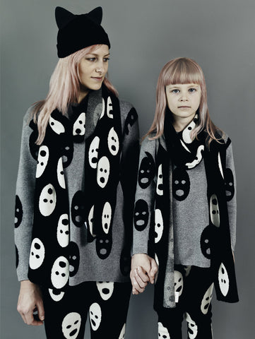 GROWN UPS: Ghosts Knit Scarf (1 LEFT)