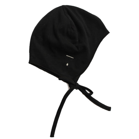 Gray Label | Nearly Black Baby Hat with Strings | The Mini Life