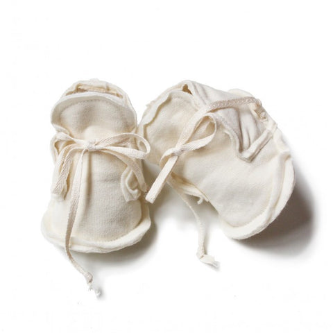 Gray Label | Cream Raw Edged Baby Booties
