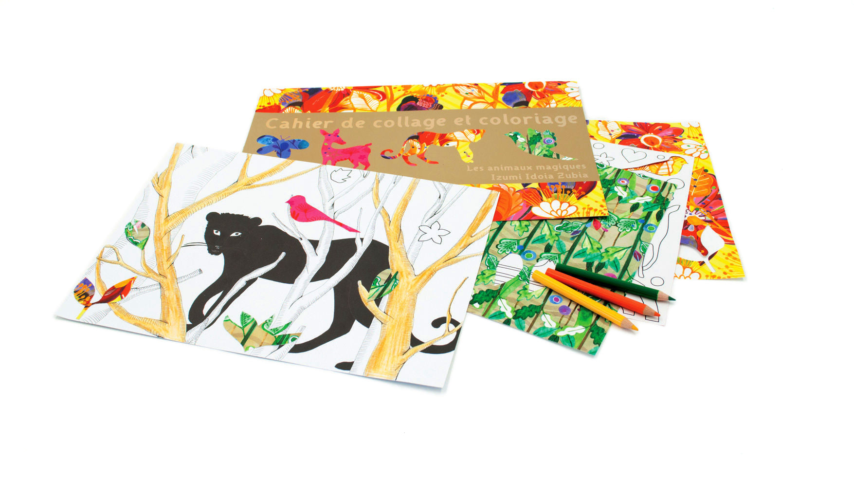 Mon Petit Art - Animal Collage Colouring Book