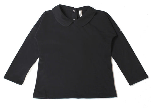 Gray Label | Nearly Black Collar Organic Tee | www.theminilife.com