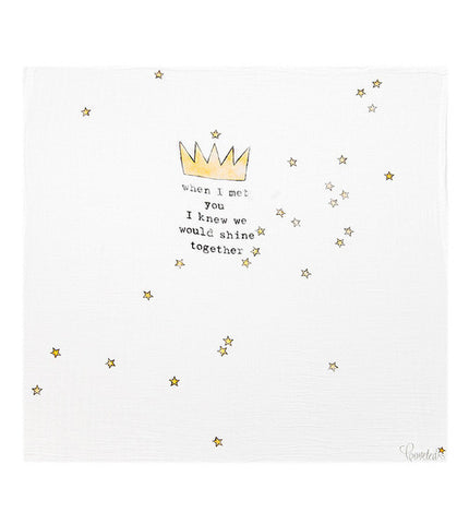 Coveted Things | Crown Baby Swaddle Blanket | www.theminilife.com