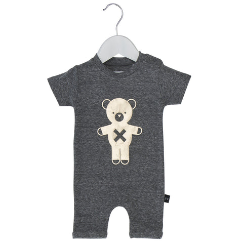 Huxbaby | Soldier Bear Short Romper | The Mini Life, Canada