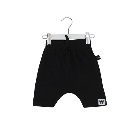 Huxbaby | Black Drop Crotch Shorts | The Mini Life, Canada