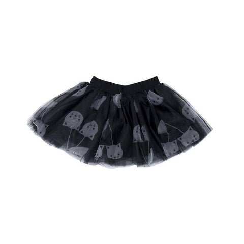 Huxbaby - Black Tulle Cherry Cat Skirt