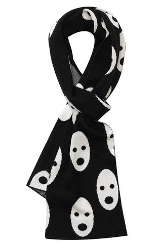 Beau Loves Grown Ups | Ghosts Knit Scarf - Black