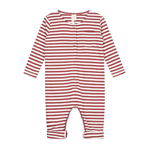 Gray Label Burgundy/White Stripe Long Sleeve Playsuit