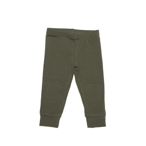 MINGO BASICS FOR KIDS | FOREST GREEN LEGGINGS | THE MINI LIFE