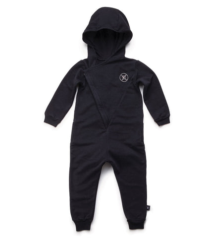 Nununu | Hooded Overall - Black