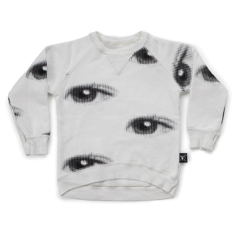 Nununu Eye Sweatshirt - White