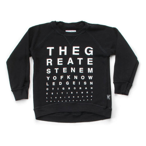Nununu Vision Test Sweatshirt - Black