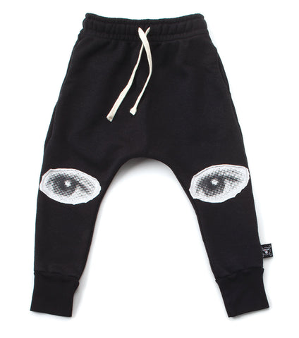 Nununu Eye Patch Baggy Pants - Black