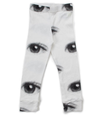 Nununu Eye Leggings - White