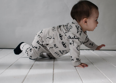 Beau Loves Notebook Baby Sweatpants - Natural/Black