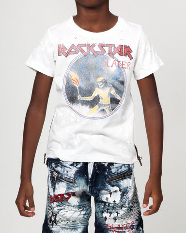 Rockstar Sushi Denim | Rockstar Slayer Tee - White