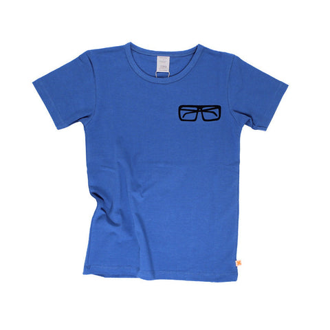 Tiny Cottons SS17 | Glasses Tee - Blue | The Mini Life