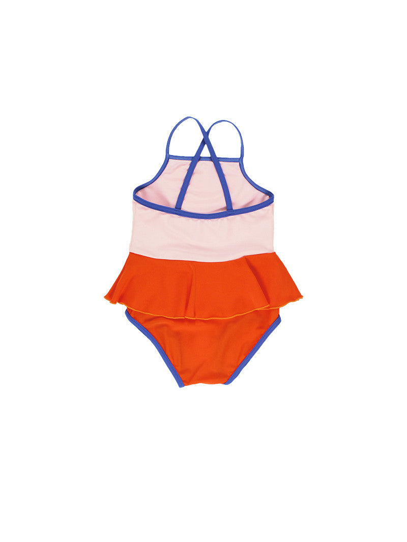 Tiny Cottons SS17 | Frill Swimsuit - Pale Pink | The Mini Life