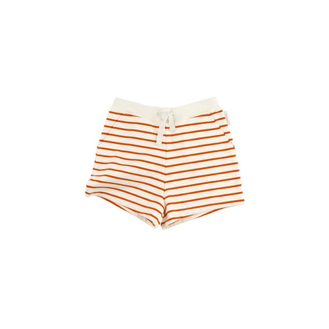 Tiny Cottons - Red Small Stripes Short