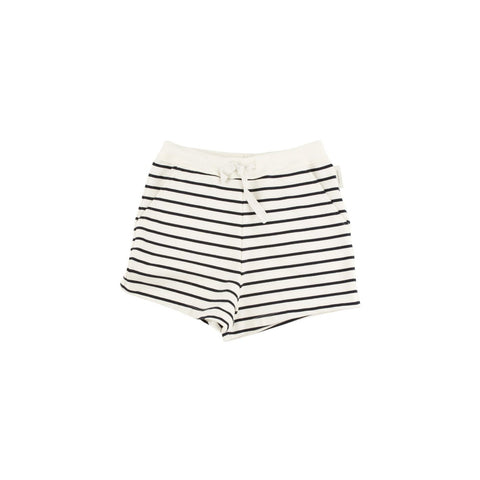 Tiny Cottons - Navy Small Stripes Short