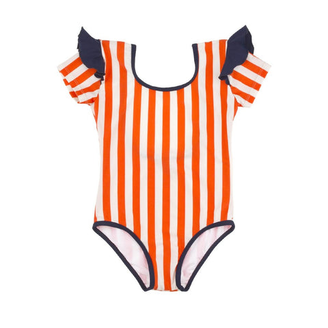 TINY COTTONS - Stripes & Frills Swimsuit