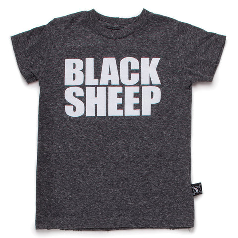 Nununu SS17 | Black Sheep Tee - Charcoal | The Mini Life, Canada
