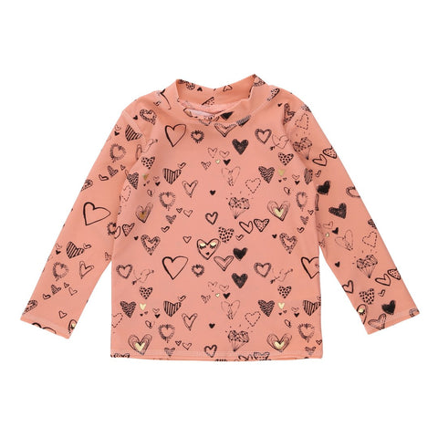 Soft Gallery Heartart Baby Swim Shirt - The Mini Life