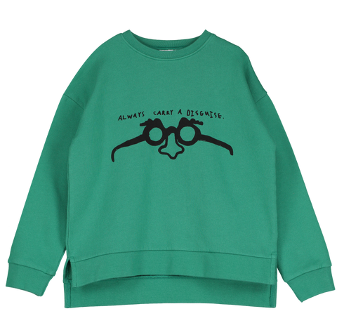 Beau Loves Disguise Sweatshirt - Winter Green
