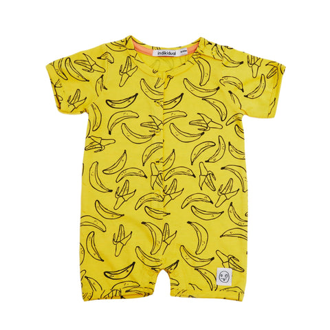 Individual | Tako Banana Short Sleeve Romper | The Mini Life
