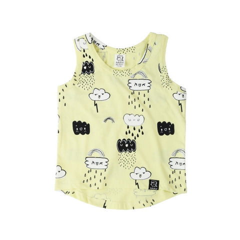 Kukukid | Clouds Tank - Yellow | The Mini Life